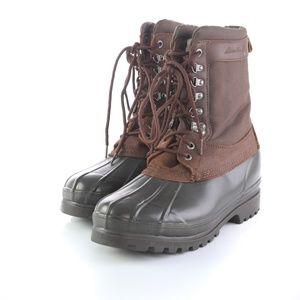 Eddie Bauer Brown Leather Snow Winter Work Boots